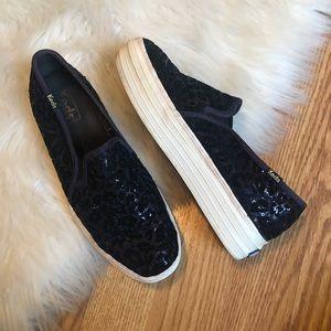 Keds   platform leopard sequin sample shoes
